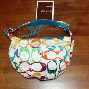 "Coach Multicolored ""C"" bag"